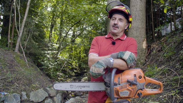 Fritz Schutti hat Holz im Blut (Bild: ServusTV / tellvision)