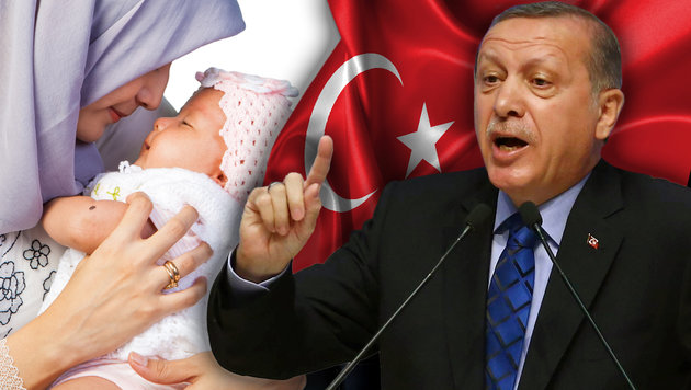 "Erdogan an Europas Türken: ""Zeugt fünf Kinder!"" (Bild: APA/AFP/ADEM ALTAN, thinkstockphotos.de)"
