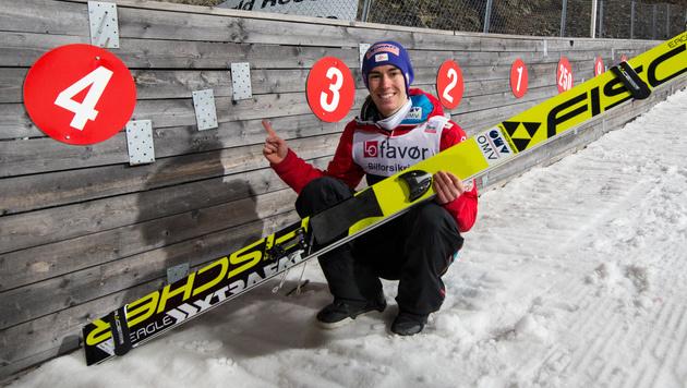 253,5 Meter! Stefan Kraft fliegt zum Weltrekord (Bild: GEPA)
