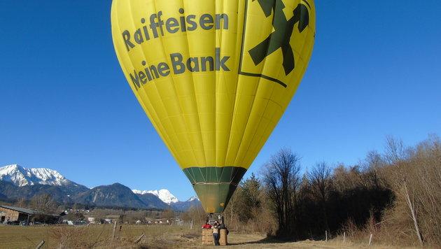 """Mit dem """"gelben Riesen"""" ging es hoch hinaus bis auf 1500 Meter. (Bild: Christian Spitzer)"""