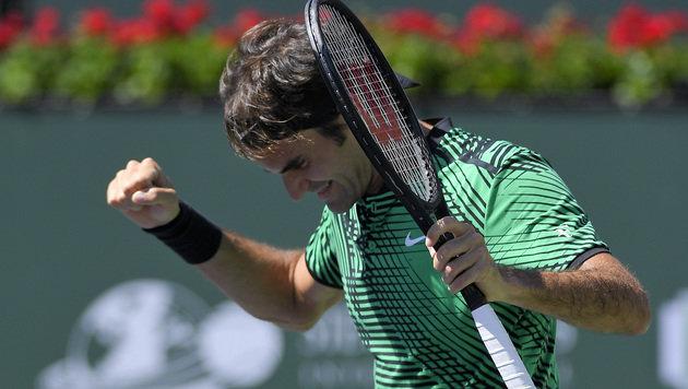 Federer im Indian-Wells-Finale gegen Wawrinka (Bild: AP)
