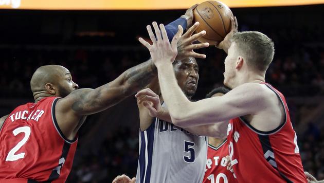 Toronto Raptors feiern in Detroit 40. Saisonsieg (Bild: AP)