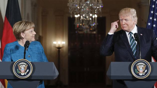 """Trump: Deutschland schuldet USA """"riesige Summen"""" (Bild: AP)"""