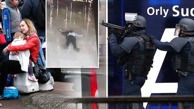 Soldatin und Polizisten attackiert - Täter tot (Bild: AP, AFP)