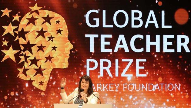 """Kanadierin zur """"Besten Lehrerin der Welt"""" gekürt (Bild: AFP)"""