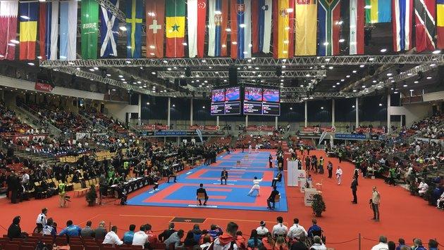 Die Karate-WM in Linz hatte zu viele Teilnehmer und zu wenige Besucher. (Bild: Mario Ruhmanseder)