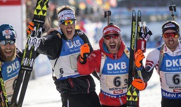 Eberhard (2. v. l.) und Eder (2. v. r.) hatten eine super Saison! (Bild: Andreas Tröster)