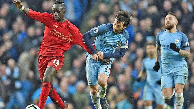 ManCity rettet gegen Liverpool 1:1 und Platz drei (Bild: AFP)