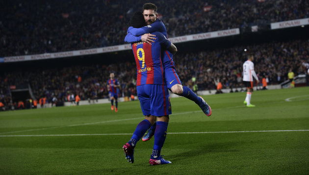 Messi mit Doppelpack! Barcelona siegt 4:2 (Bild: Copyright 2017 The Associated Press. All rights reserved.)