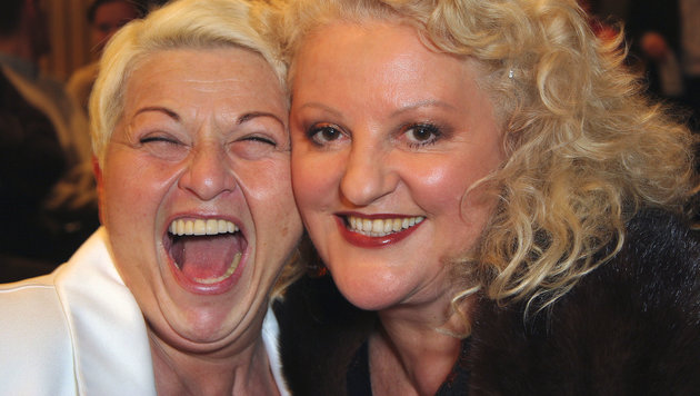 Früher hatten die Jazz Gitti und Marika Lichter kein Problem damit, gemeinsam für Fotos lachen. (Bild: Leopold Nekula / VIENNAREPORT)