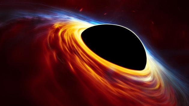 Künstlerische Illustration eines Supermassereiches Schwarzes Loch (Bild: ESO, ESA/Hubble, M. Kornmesser)