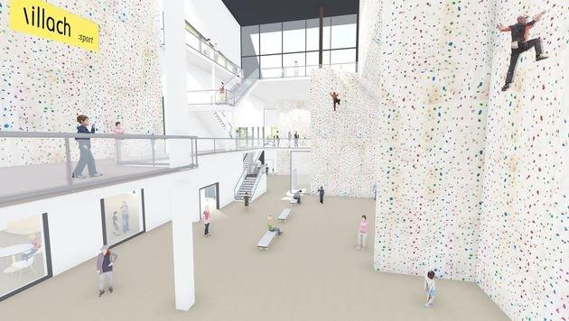 Neue, große Kletterhalle für Villach (Bild: KL Architekten)