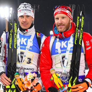 """Eberhard und Eder: """"Das ist schwer zu toppen"""" (Bild: AFP)"""