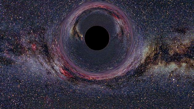 Künstlerische Darstellung eines Schwarzes Loches (Bild: Ute Kraus, Universität Hildesheim (CC BY-SA 2.5))