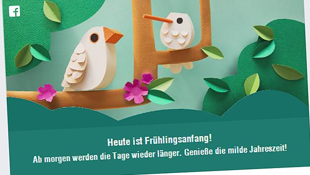 Facebook feiert Wintersonnenwende im Frühling (Bild: Screenshot facebook.com)