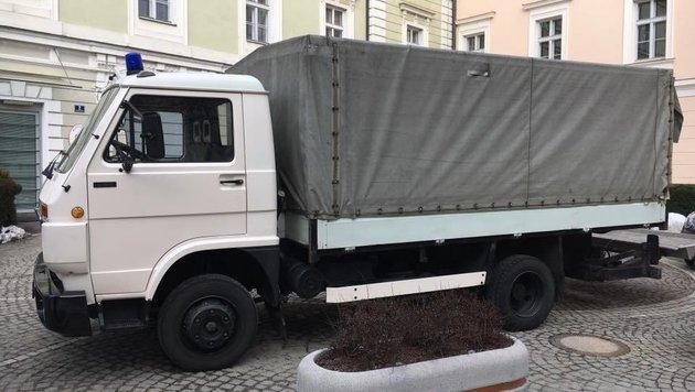 Müllauto als Ticket ins Freie (Bild: ORF Kärnten)