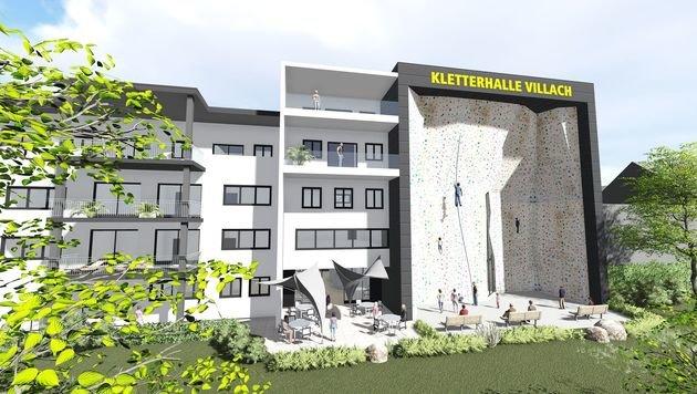 Neue, große Kletterhalle für Villach (Bild: KL_Architektur)