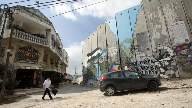 Schlechteste Aussicht der Welt - für 900 € pro Tag (Bild: HAZEM BADER/AFP)