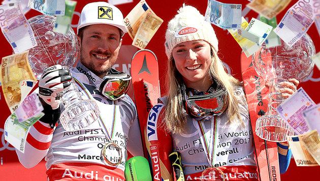 So viel cashen Shiffrin, Hirscher und Co. ab! (Bild: Getty Images, thinkstockphotos.de)
