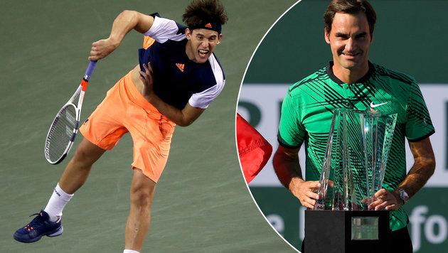 Thiem macht Platz gut - Federer schon wieder 6. (Bild: GETTY IMAGES NORTH AMERICA)