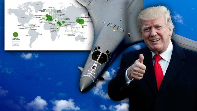 """Trumperium"": Global 200.000 Soldaten stationiert (Bild: United States Air Force, AP)"