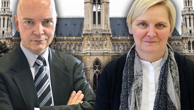 Udo Janßen und Gesundheitsstadträtin Sandra Frauenberger (Bild: APA/HANS PUNZ, thinkstockphotos.de, zwefo)