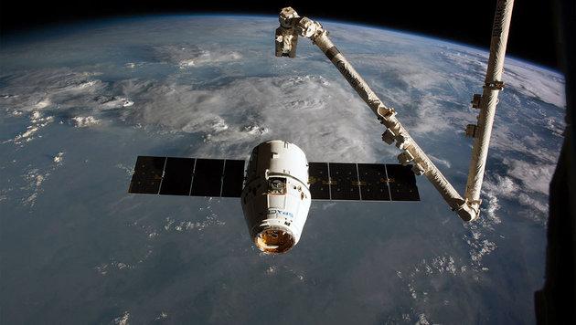 """""""Dragon""""-Raumkapsel sicher zur Erde zurückgekehrt (Bild: NASA)"""