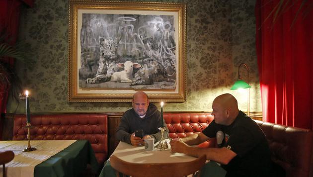 """Im Inneren des """"Walled Off Hotel"""" (Bild: HAZEM BADER/AFP)"""