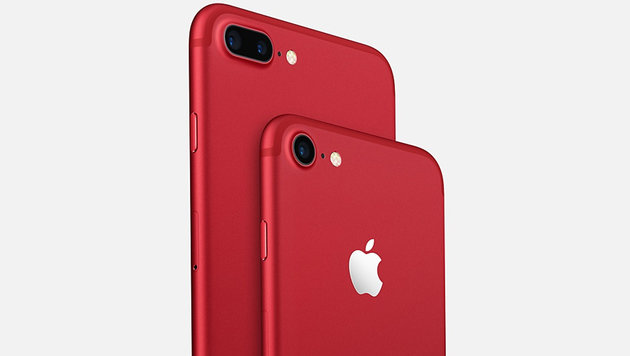 Apple enthüllt iPhone 7 in roter Limited Edition (Bild: Apple)