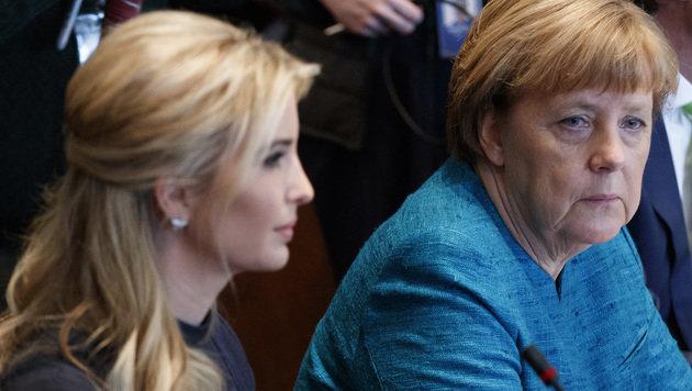 Ivanka Trump beim Besuch von Angela Merkel (Bild: Associated Press)