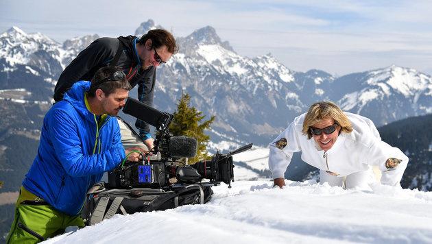 Hansi Hinterseer bei den Dreharbeiten zu seiner ORF-Show (Bild: ORF)
