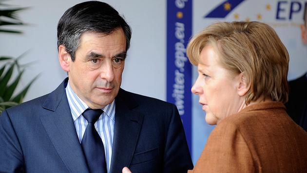 """Merkel habe in Europa """"enorme Probleme geschaffen"""", ist Fillon überzeugt. (Bild: AFP (Archivbild))"""