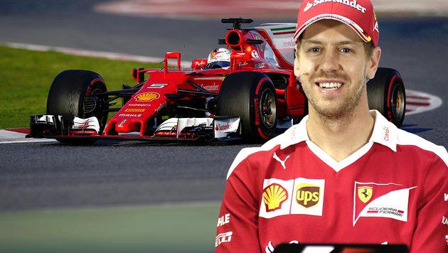 """Sebastian Vettels neue Flamme heißt """"Gina"""" (Bild: AP, AFP)"""