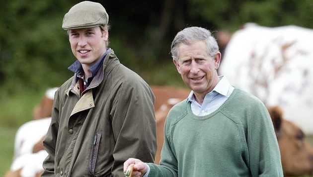 Royale Bauern: Prinz Charles mit Prinz William (Bild: Viennareport)