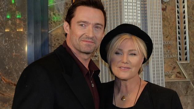 Hugh Jackman liebt seit Jahren nur eine: seine um 13 Jahre ältere Ehefrau Deborra-Lee Furness. (Bild: AFP)