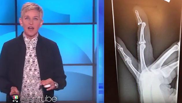 Ellen DeGeneres musste nach zwei Gläsern Wein in die Notaufnahme. (Bild: YouTube.com)