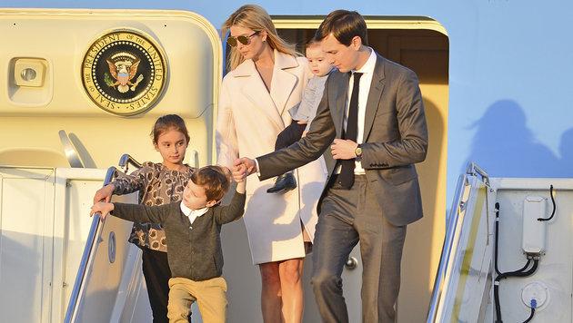Ivanka Trump mit Ehmann Jared Kushner und den Kindern Arabella, Joseph Frederick und Theodore James (Bild: MediaPunch/face to face)