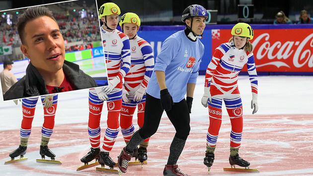 """US-Superstar Ohno: """"Das ist viel mehr als Sport!"""" (Bild: GEPA, krone.tv)"""