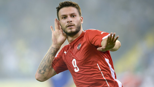 Marco Djuricin im Dress des U21-Nationalteams (Bild: APA/HERBERT NEUBAUER)