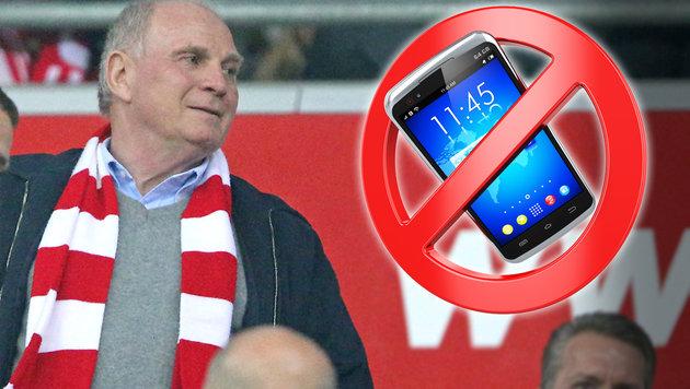 """Hoeneß: """"Handy ist ein totaler Scheiß für Spieler"""" (Bild: GEPA, thinkstockphotos.de)"""