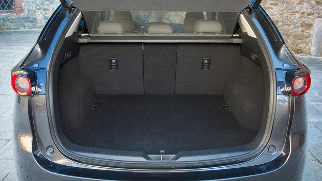 Der Kofferraum fasst 506 ... (Bild: Mazda)