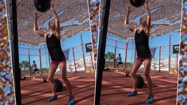 Österreichs Schwimm-Ass Lisa Zaiser weiß, wie man sich fit hält. (Bild: facebook.com)
