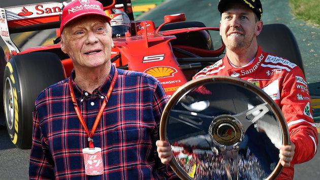 "Niki Lauda: ""Vettel ist gefahren wie ein Gott!"" (Bild: AFP/SAEED KHAN, AFP/PAUL CROCK, GEPA)"