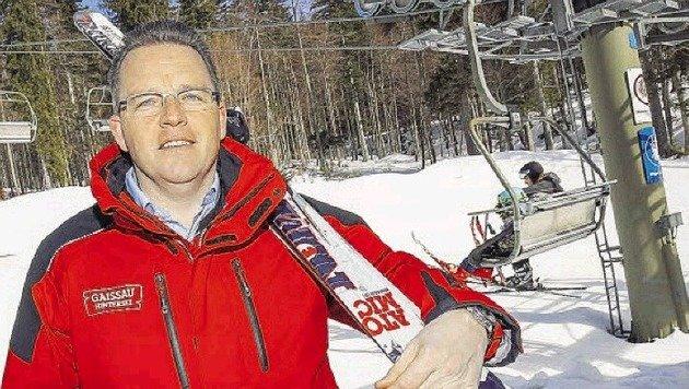 Hotelier Albert Ebner ist einer der drei einheimischen Miteigentümer, ihm gehören zehn Prozent. (Bild: Markus Tschepp)