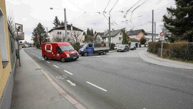 Kendlerstraße, Kuglhofstraße: Hier entsteht der Kreisverkehr. (Bild: Markus Tschepp)