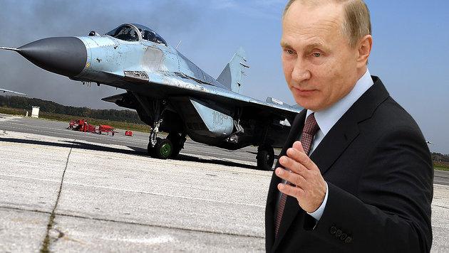 Russlands Präsident Wladimir Putin zeigte sich empört über den US-Angriff auf Syrien. (Bild: AFP)