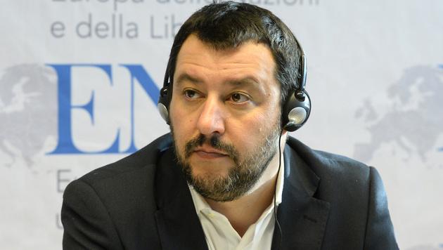 Matteo Salvini, Chef der italienischen Partei Lega Nord (Bild: AFP)