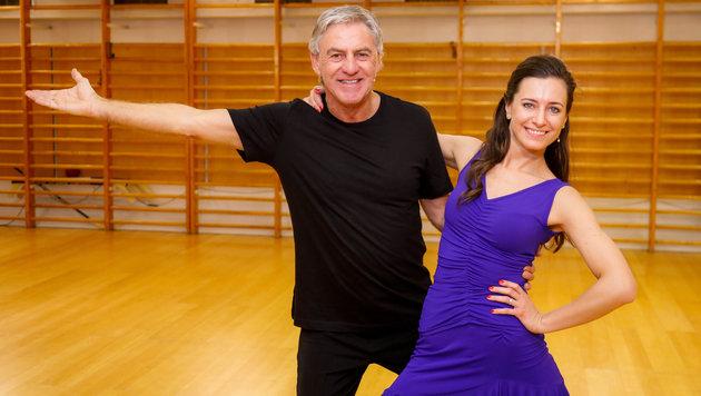 Walter Schachner mit Lenka Pohoralek (Bild: ORF)