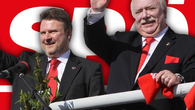 Stadtrat Michael Ludwig mit Bürgermeister Michael Häupl (Bild: Peter Tomschi, SPÖ)