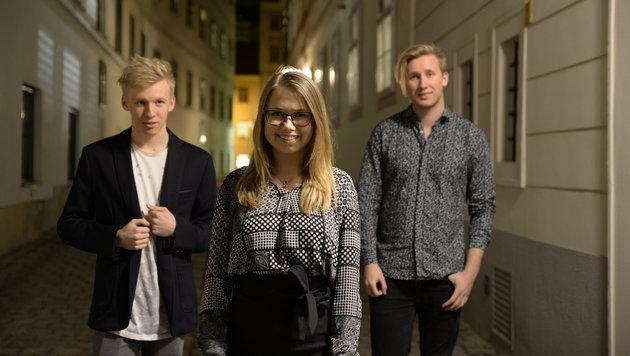 Laura Kamhuber, Laurin (l.) und Nico Greiter sind Brofaction. (Bild: Christian Mikes/Rhythm & Poetry)